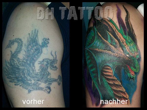 drachen tattoo oberarm fabulous tattoo cover up aiatisch. Black Bedroom Furniture Sets. Home Design Ideas