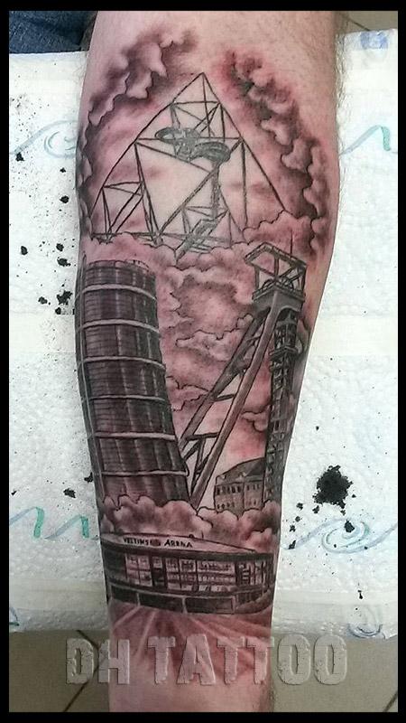 Dachdecker zunftzeichen tattoo  Tattoo - Handwerk - Wappen - Stadium - Fussball
