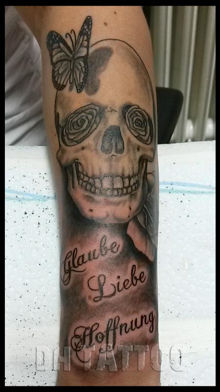 Tattoo  Skulls Totensch&228del Skelette